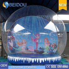 Fábrica de venta al por mayor de PVC durable foto de Navidad Humano Globo inflable de nieve