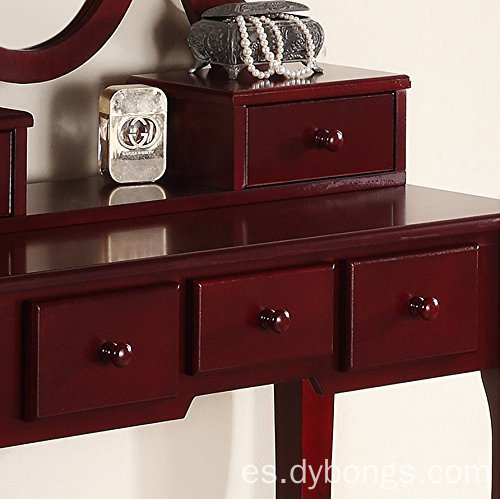 new design Cherry finish dresser wholesale makeup MDF dressing table