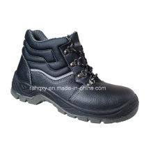 Black Split Embossed Leather Work Shoes (HQ05059)