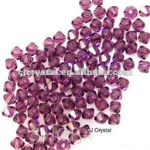 Дешевые бусины кристалла bicone, высокое качество дешевое bicone стекло шарика