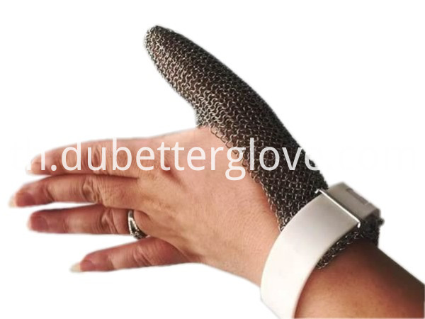 steel mesh glove one finger