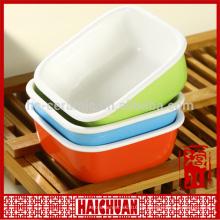 Keramik runde rote Backware mit Silikon-Deckel Lunch-Box Spind Schüssel Japanische Nudel-Schüssel
