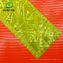 Plastic Traffic Road/Street Safety Warning Anti-UV/Waterproof PVC/Polyester/Nylon Printing Reflective/Fluorescent Color Square/Triangle Flag