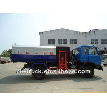 Dongfeng 145 elevador hidráulico camión de basura-12000L