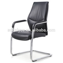 China made black pu meeting chair with metal armrest