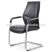 China fez cadeira de reunião pu preto com braço de metal