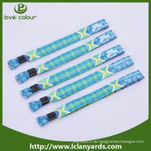 Fabrik Polyester benutzerdefinierte billige Stoff Wristbands für Veranstaltung