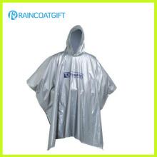 Reusable Hooded Lightweight White EVA Rain Poncho