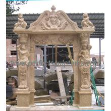 Puerta del arco del granito de mármol de la piedra para la puerta de la arcada que rodea (DR036)