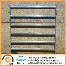 6 carriles ovalados redondos de metal galvanizado