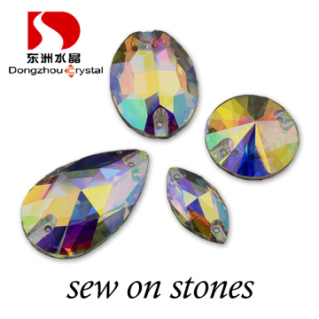 Dongzhou Flat Back Sew on China Flat Crystal Beads