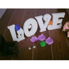 PVC-Love Letters Home Deko Schild mit Mantel und Hut Haken