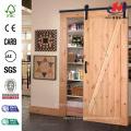 30 in. x 84 in. Melrose Solid Core Primed Composite Interior Barn Door Slab with Sliding Door Hardware Kit