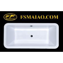 Baignoire encastrable en acrylique rectangulaire de style simple (BA-8808)