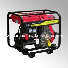 Type de châssis ouvert refroidi à l'air Démarrage du recul de générateur diesel (DG7000)