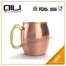 Taza de cobre de mula de Moscú de acero inoxidable de alta calidad de 20 oz