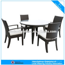 Round Shape Glass Top Patio Dinning Set