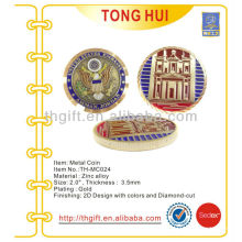 Модная мягкая эмаль Металлическая памятная монета, сувенирная монета с покрытием