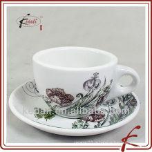Новый дизайн 250 мл керамическая чашка кофе с блюдцем