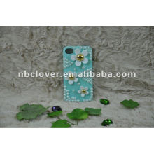manual bling flower mobile phone case for iphone