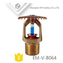 EM-V-B064 antiferrugem latão Pendent Fire Fighting Sprinkler Cabeça Bocal