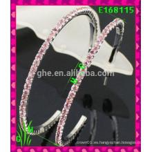 El más nuevo diseño Pendientes grandes del ornamento de la gota grande, nuevos pendientes cuadrados del rhinestone