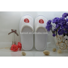 cheap white soft woman personalized open toe chinese embroidered hotel slipper