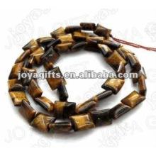 12x16MM Natural plana retangular tigereye pedra Beads