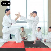 Plancher d'arts martiaux - Tapis rouge de Taekwondo de couleur noire d'EVA
