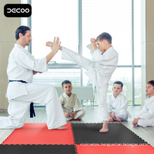Martial Arts Flooring - Red Black Color EVA Taekwondo mat