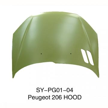 Front Hood for Peugeot 206