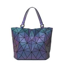 Custom Logo Fashion women famous brands designer PU Leather Casual Geometric Tote Bags Women Handbags