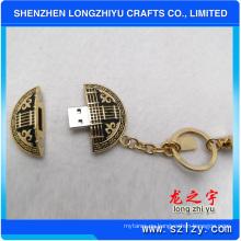 Proveedor personalizado de alta calidad de metal llavero USB