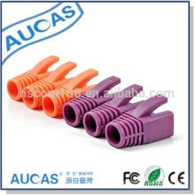 China Rohs Cat6e Cat7 Rj45 Plug Connector Boot Cap Protectors Aucas Brand