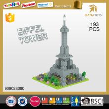 Hot sale diy plastic eiffel tower building block