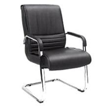 Cadeira de couro moderna para reunião Oficina Visitante sem rodas (HF-BLA174D)