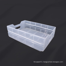 Airline plastic drawer for inflight cart storage box