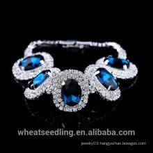 2015 Fashion Luxury Crystal Around Big Gemston Bracelet for Lady
