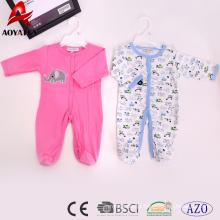 venda quente algodão design recém-nascido roupa do bebê macacão