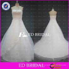 ED Bridal Real Sample Strapless Ball Gown Beaded Appliqued Tulel Vestidos de casamento baratos