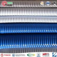 Tubo flexible de la manguera de la succión del PVC de la fábrica del nuevo diseño corrugado