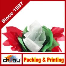 Papel de tecido vermelho, verde e branco de Natal (510048)