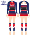 Mesh Sublimated Youth Cheerleading Uniformen