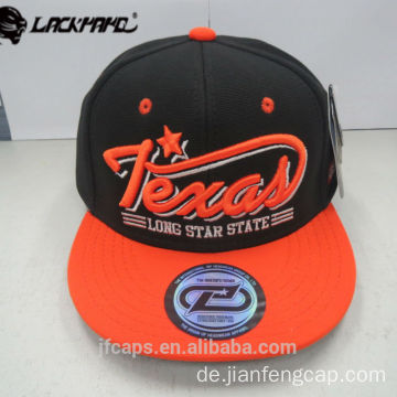 3D Stickerei Snapback HipHop Flat Cap Mode