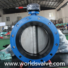 Rubber Sealing Double Flange Butterfly Valve