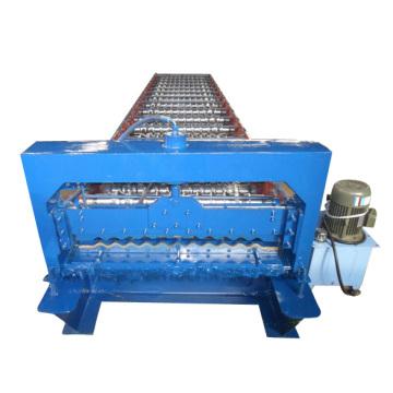 Máquina formadora de rolos de painel ondulado para telhado de metal