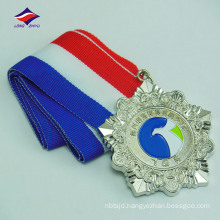 Factory direct sales low price zinc alloy medals with ribbons