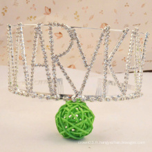 Letter Crown Rhinestone Tiara Crystal Girls Crowns For Party
