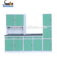 Melhor venda porta do armário de cozinha moderna ghana armário de cozinha armário de cozinha em aço