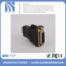 Adaptateur DVI vers HDMI pour tablette pour moniteur DVI-I (24 + 5) Adaptateur convertisseur DVI femelle vers HDMI Adaptateur mâle